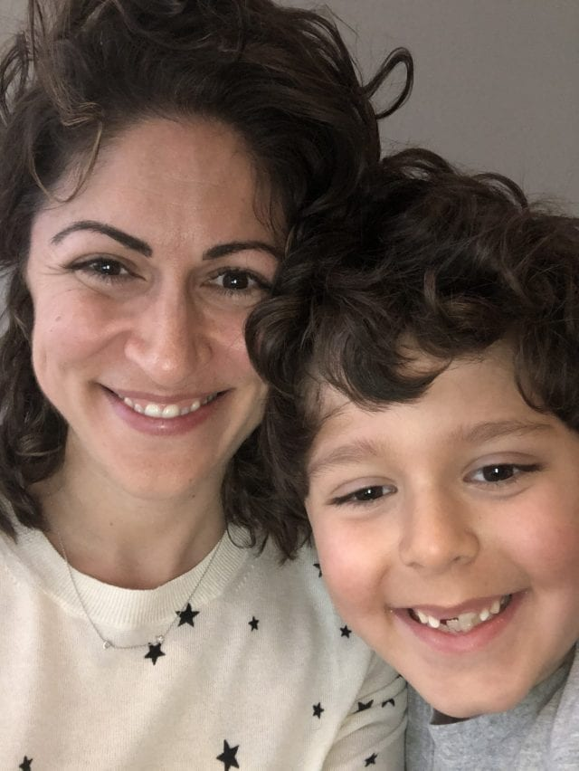 Olga farman et son fils