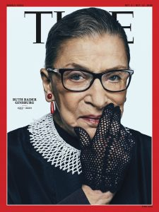 Photo de couverture du Time, avec Ruth Bader Ginsburg
