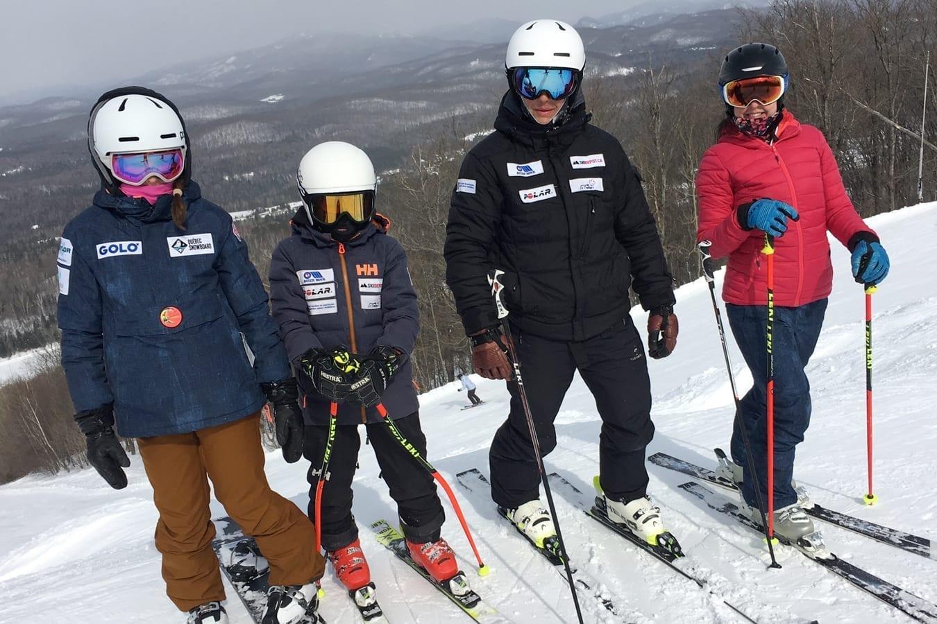 Sylvie Dostie et ses trois enfants sont de grands sportifs.
