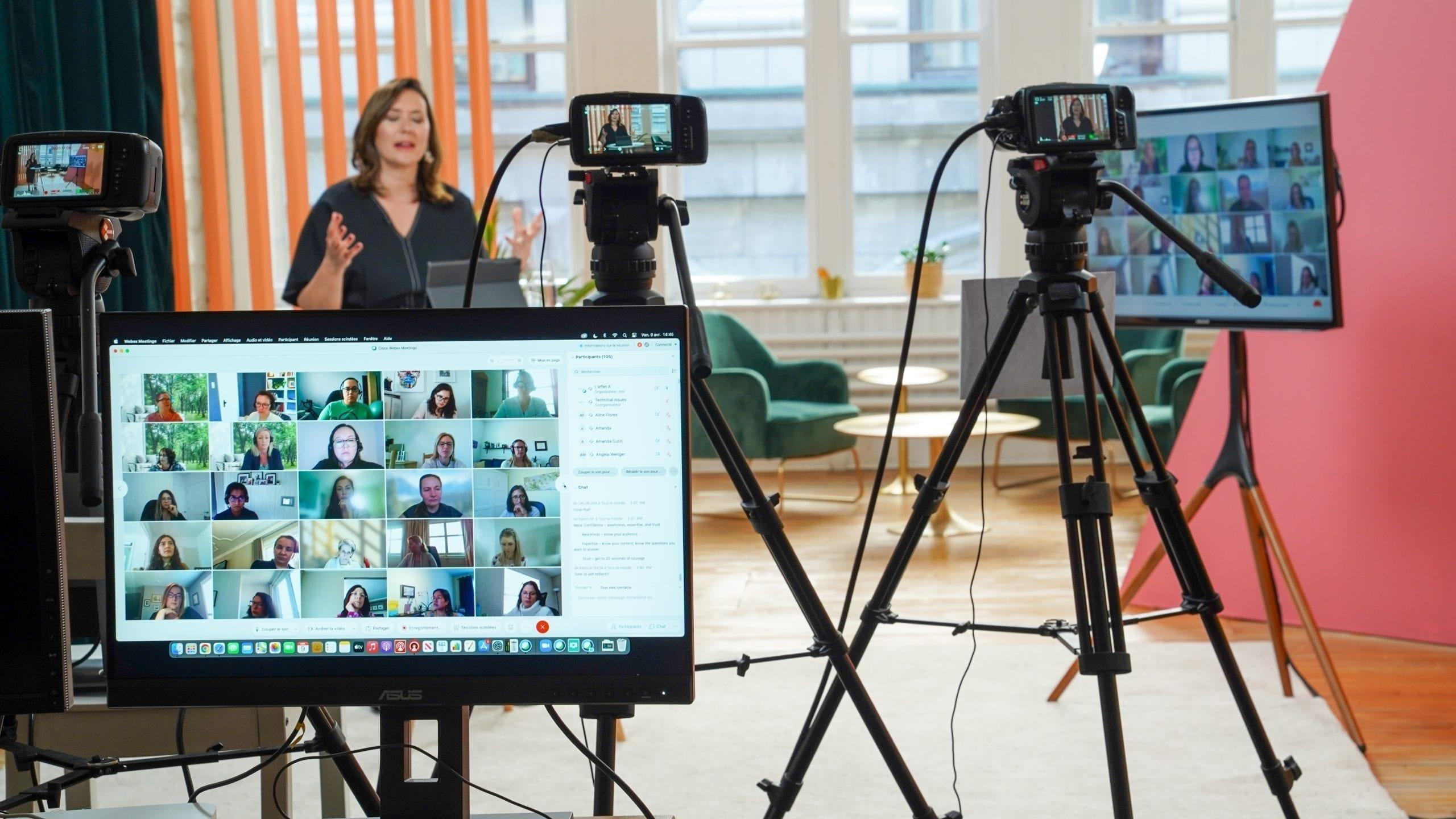 Dessous du tournage d'un événement virtuel